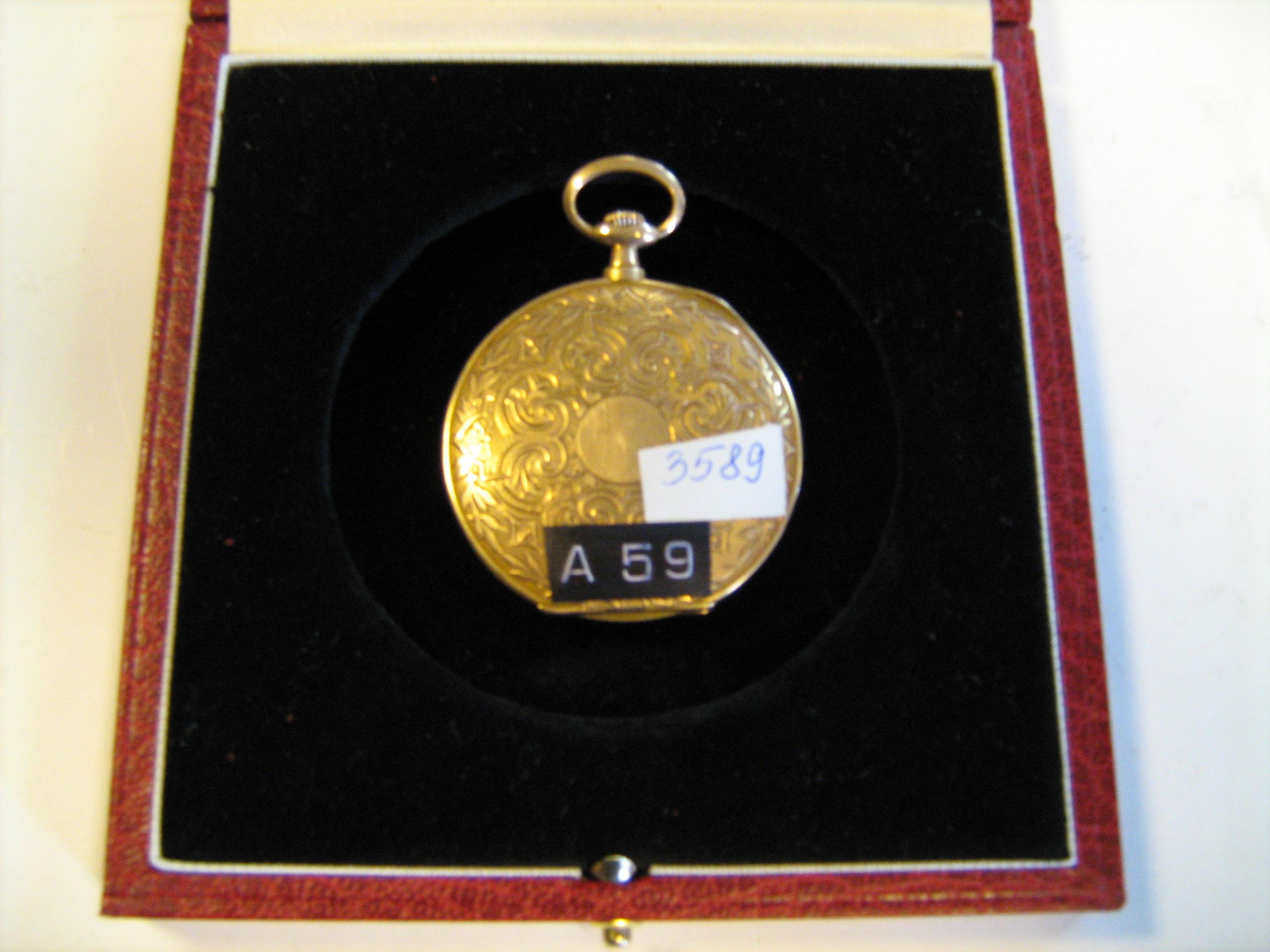 """Годинник кишеньковий жіночий """"Цибуля"""" Фірма Tavannes Watch Co, інв.№ 3589"""