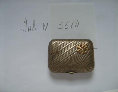 Коробочка для тютюну, срібло 84 пр. , інв.№3514