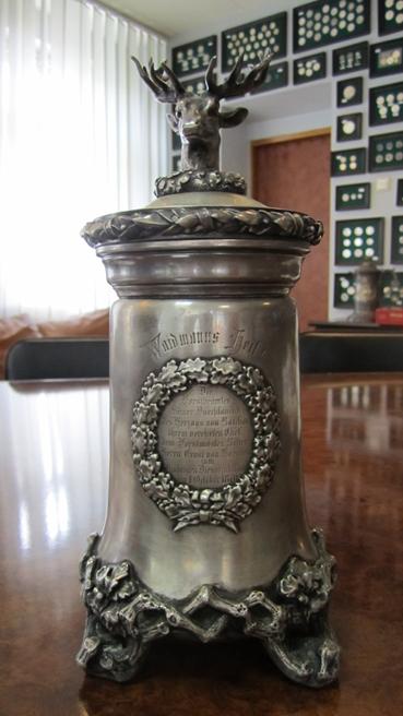 Кубок з мисливським сюжетом, срібло 750 пр. , інв.№56270