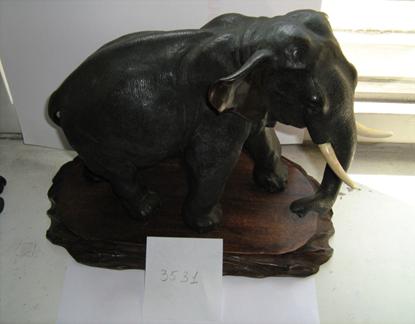 Статуетка «Слон», бронза, інв.№3531